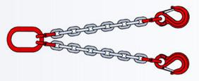 Цепные стропы 2СЦ - двухветвевые цепные стропы
