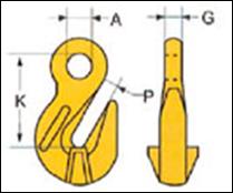 Крюк укорачивающий c ушком тип LYK