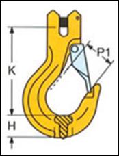Крюк с вилочным соединением SALKH