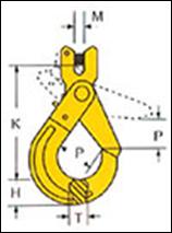 Крюк самозапирающийся с вилочным соединением VAKH