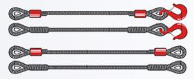 Стропы канатные ВК - ветвь канатная, ВК с крюком