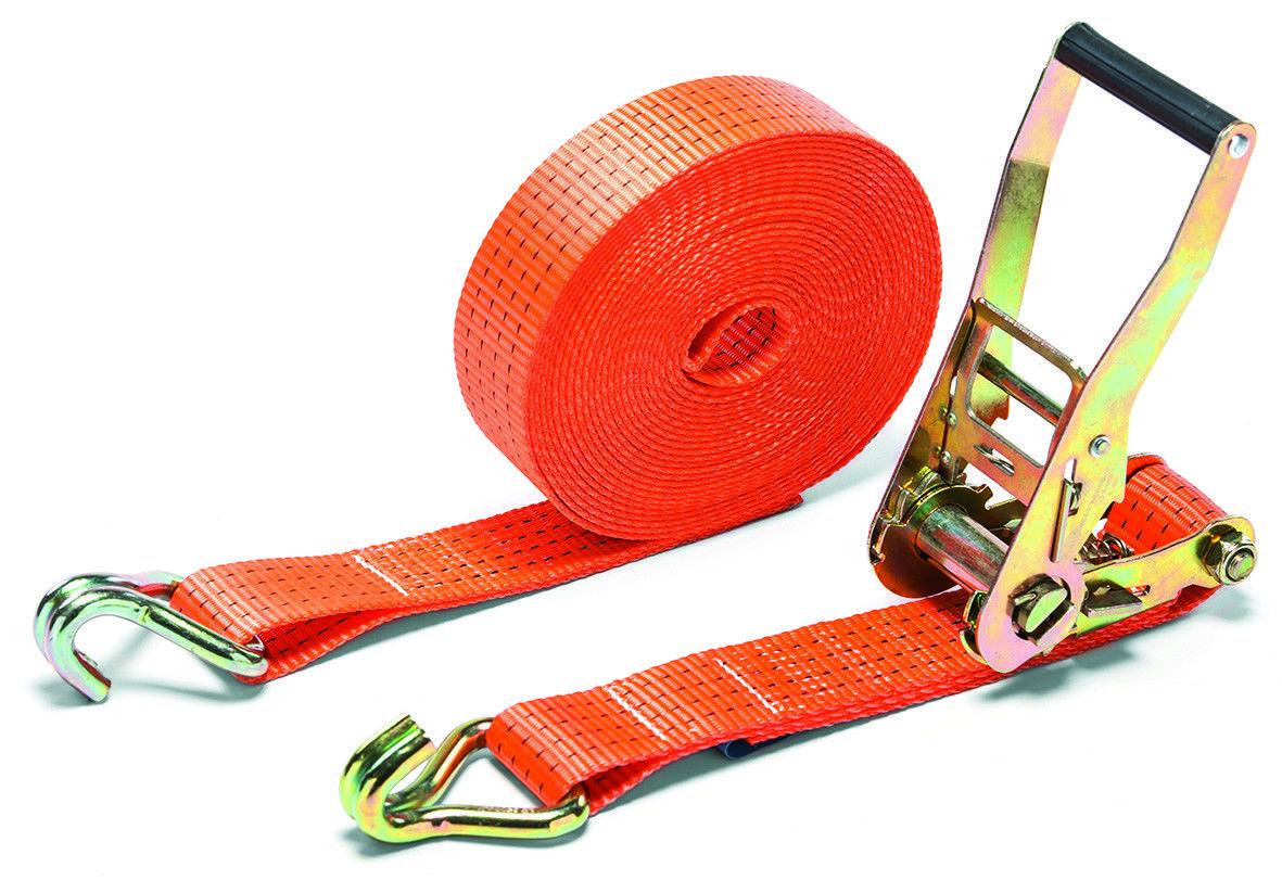 Ремень стяжной с крюками и ручным рэчетом